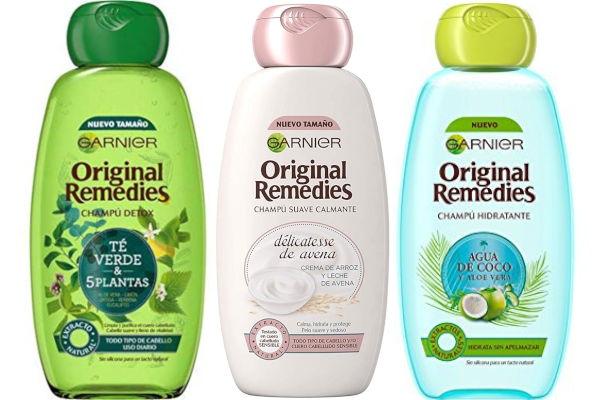 Los productos Original Remedies de Garnier son muy baratos, y tampoco incluyen siliconas