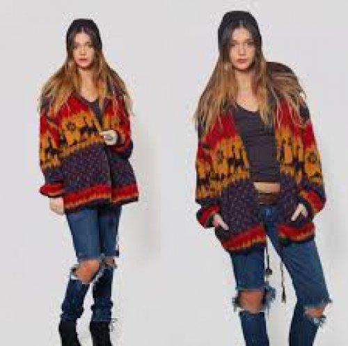 Ethnic Sweater & Oversize Coat