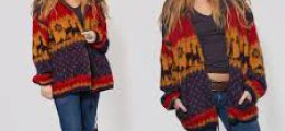 Ethnic Sweater & Oversize Coat