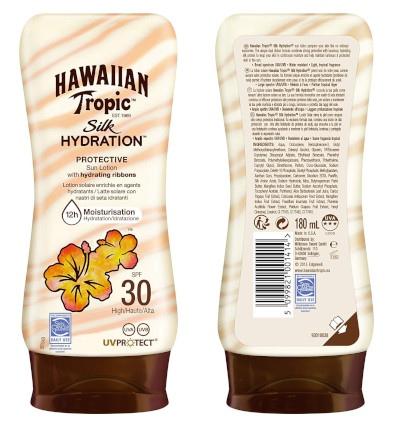 Hawaiian Tropic Silk SPF 30, con un bonito diseño de producto