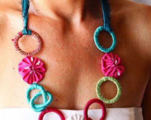 Silk Shirt & Ethnic Necklace
